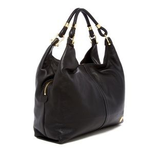 Vince Camuto ][ 'Aza' Black Leather Shoulder Bag